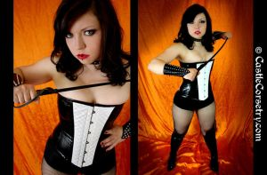 Hologram Corset by CastleCorsetry
