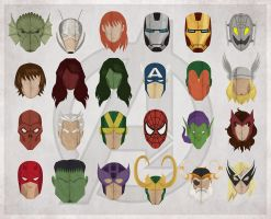 Avengers head shots by drawsgood