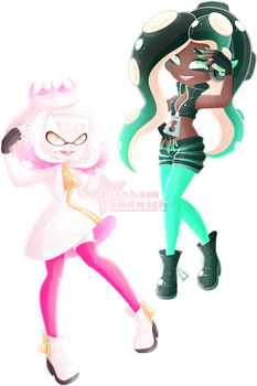 Off The Hook! (Pearl and Marina) by Ghiraham-Sandwich