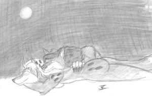 Sleep under the moonlight - Commission for marillo by Gojihunter31