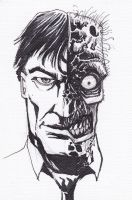 Two-Face sketch card by LangleyEffect