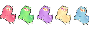 STICKERS Rainbow Alpacas by starexorcist