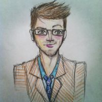 Tenth Doctor Cartoon by lam8507