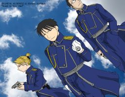 FMA: Roy, Riza, Maes by body-san