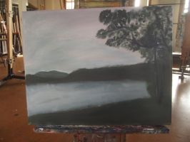 TAFE STUFF Painting Lake by pie-lord