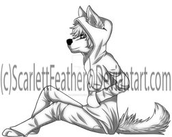 .Freebie. Anthro Male W/Hoodie Hand in Pocket by ScarlettFeather