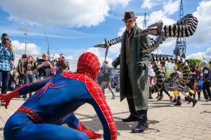 London Expo Spider-man VS Doc Ock by Cazza2010