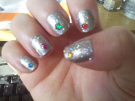 Nailartsilverjewel by CarpeComma
