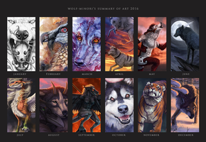 Summary of art 2016 by wolf-minori