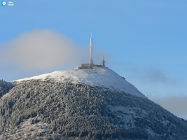 Winter on the Puy de Dome by warpdesign