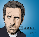 Dr. House (Hugh Laurie) by JimothyG