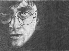 Daniel Radcliffe as Harry Potter by TheKrystleGallery