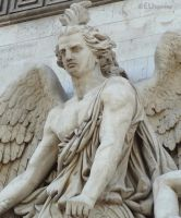 Statue detail of the Arc de Triomphe by EUtouring