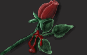 Bleeding rose by XerafCZ