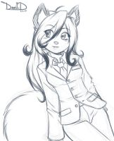 Glitter (Sketch) 8-2-13 by DamnEvilDog