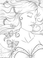 Sleeping Beauty Lineart by Rogue-Of-The-Night