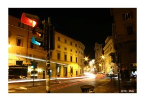 Rome - Streets at Night by scottevil