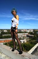Blue sky in the punk style by Endleria