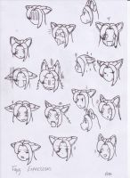 Facial Expression Practice by white-fang-demon