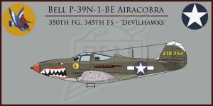 P-39N-1-BE of 350th FG 345th FS by Grevinsky79