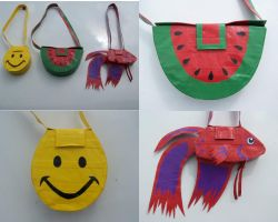 funky duct tape purses by WeirdBugLady