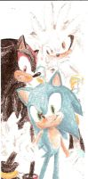 Sonic, Shadow, and Silver by chibi-esque