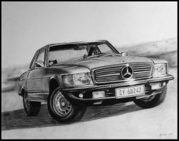 Mercedes sketch by minikikiart