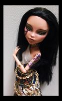 OOAK Monster High Cleo de Nile Egyptian Queen by mourningwake-press