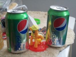 applejack and pepsi by FunnyGamer95
