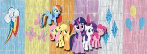 Mane 6 Facebook Cover by Ember-Blitz