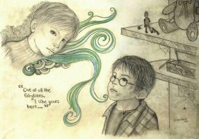 Two Boys in a Fairytale by phoenixacid