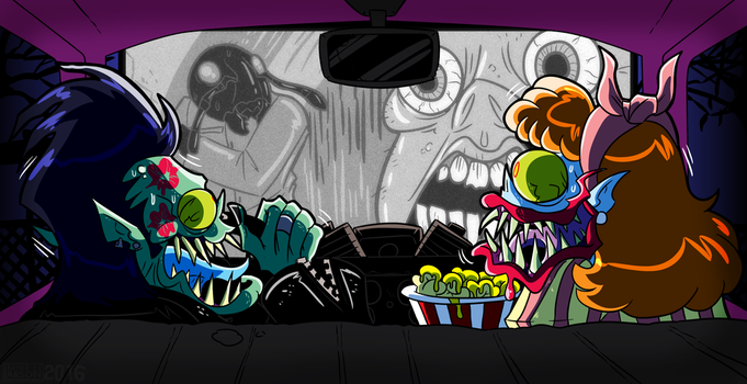 Drawlloween 2016 Oct15th Drive-In Creature Feature by MichaelJLarson