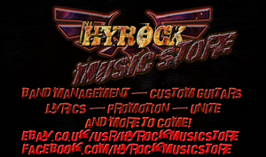 Hyrock Music Stores Business Card by Zodiax3