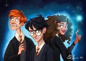 Harry Potter Trio by coda-leia