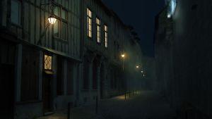 Matte painting de nuit by Miliedessine