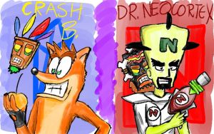 Crash and Cortex by doodle-guy7