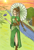 Lady of the woods coloured by RevanREK
