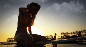 Surfing with a Giantess - Version 2 by mike973