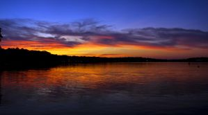 Vibrant Sunset on the Bay II by xDx
