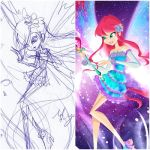 Sketch and Finished- Magic Winx Mythix by Charming-Manatee