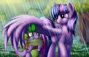 Rainy Books by Grennadder