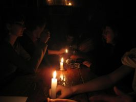 sitting by candlelight by sfatka