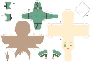 Hetalia Papercraft Male Hungary by SumatraDjVero