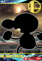 Ninty Card - Mr. Game and Watch by HoppyBadBunny