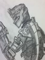 Dead Space Isaac Clarke quick sketch by Drawception