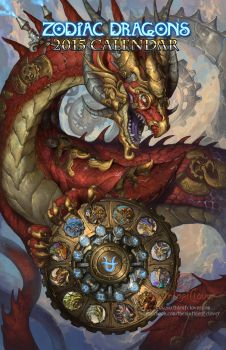 2015 Zodiac Dragons Calendar by The-SixthLeafClover
