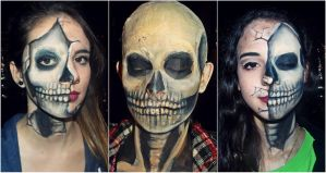 Skull Makeup by CamilaCostaArt