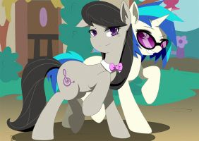 Octavia Melody And Vinyl Scratch by Aka-Ryuga