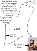 Chest armor pattern - Athena Saint Seiya by ShinjusWorkshop