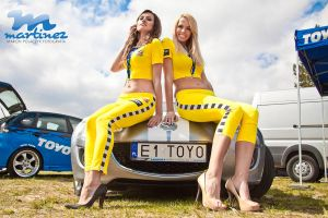 Girls on DRIFT King of Europe 2012 Poznan by fotomartinez